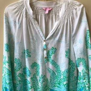 "Lilly Pulitzer ""Elsa"" Silk Blouse/Top"